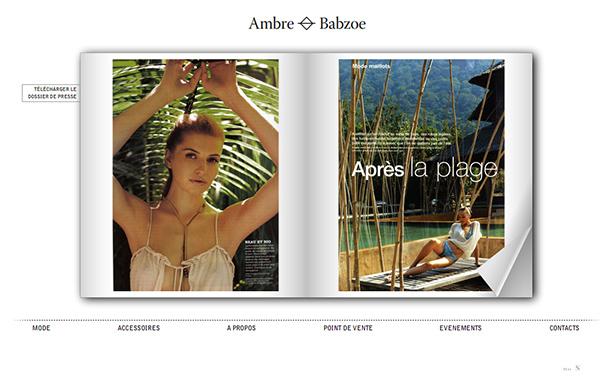 Ambre Babzoe_网站开发