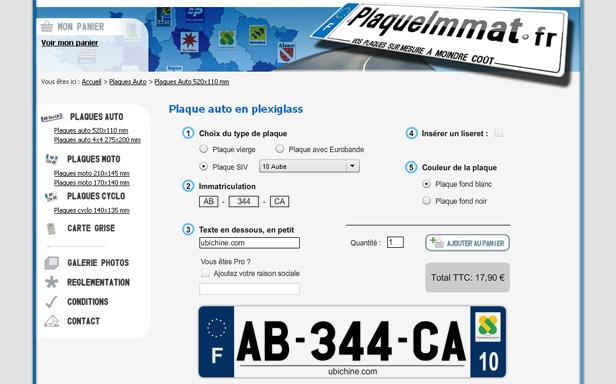 Plaqueimmat_网站开发