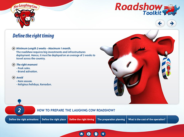 The Laughing Cow_互动光盘开发