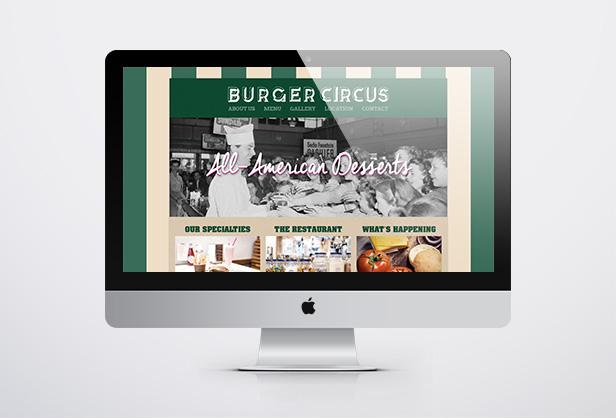 Burger Circus_网站开发