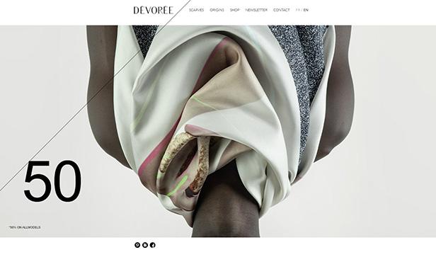 DÉVORÉE Scarves_网站开发