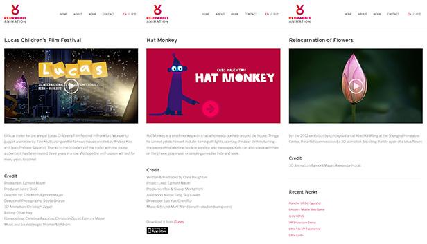 RedRabbit Animation_网站开发